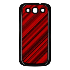 Background Red Lines Samsung Galaxy S3 Back Case (black) by AnjaniArt