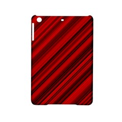Background Red Lines Ipad Mini 2 Hardshell Cases