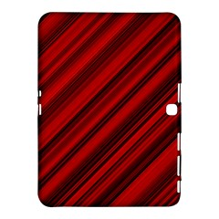 Background Red Lines Samsung Galaxy Tab 4 (10 1 ) Hardshell Case  by AnjaniArt