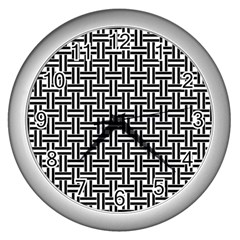 Braiding Vector Fabric Pattern Wall Clock (silver)