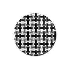 Braiding Vector Fabric Pattern Magnet 3  (round)