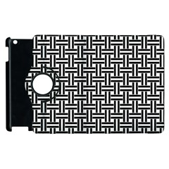 Braiding Vector Fabric Pattern Apple Ipad 2 Flip 360 Case by AnjaniArt