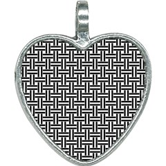 Braiding Vector Fabric Pattern Heart Necklace