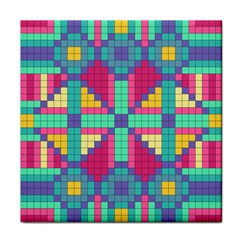 Checkerboard Squares Abstract Face Towel