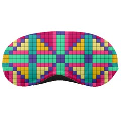 Checkerboard Squares Abstract Sleeping Masks by AnjaniArt