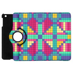 Checkerboard Squares Abstract Apple Ipad Mini Flip 360 Case