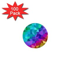 Colorful Multicolored Rainbow 1  Mini Buttons (100 Pack)  by AnjaniArt