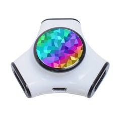 Colorful Multicolored Rainbow 3 Port Usb Hub by AnjaniArt
