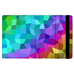 Colorful Multicolored Rainbow Apple Ipad 2 Flip Case by AnjaniArt