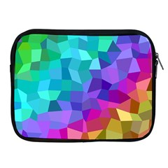 Colorful Multicolored Rainbow Apple Ipad 2/3/4 Zipper Cases by AnjaniArt