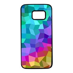 Colorful Multicolored Rainbow Samsung Galaxy S7 Black Seamless Case by AnjaniArt
