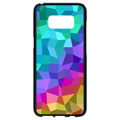 Colorful Multicolored Rainbow Samsung Galaxy S8 Black Seamless Case by AnjaniArt