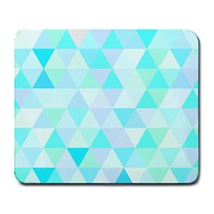 Blue Abstract Pattern Large Mousepads by AnjaniArt