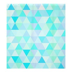 Blue Abstract Pattern Shower Curtain 66  X 72  (large)
