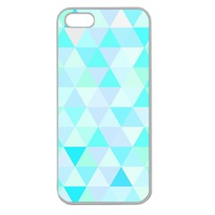 Blue Abstract Pattern Apple Seamless Iphone 5 Case (clear)