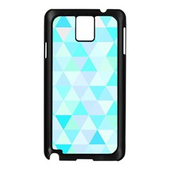 Blue Abstract Pattern Samsung Galaxy Note 3 N9005 Case (black) by AnjaniArt