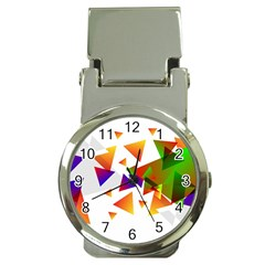 Abstract Triangle Money Clip Watches