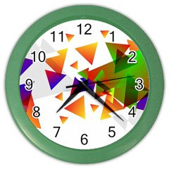 Abstract Triangle Color Wall Clock