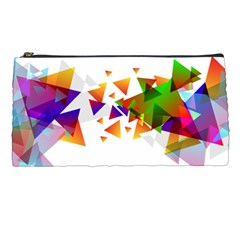 Abstract Triangle Pencil Cases