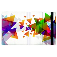 Abstract Triangle Apple Ipad 2 Flip Case