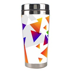 Abstract Triangle Stainless Steel Travel Tumblers