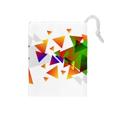 Abstract Triangle Drawstring Pouch (medium)