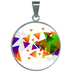 Abstract Triangle 30mm Round Necklace