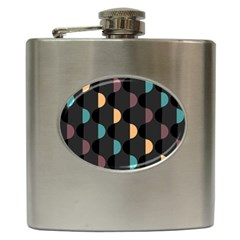 Abstract Background Modern Hip Flask (6 Oz)