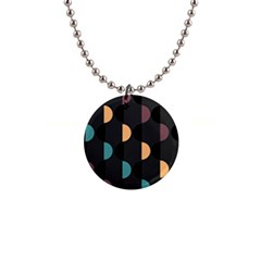 Abstract Background Modern 1  Button Necklace