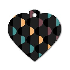 Abstract Background Modern Dog Tag Heart (two Sides)