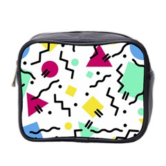 Background Abstract Mini Toiletries Bag (two Sides)