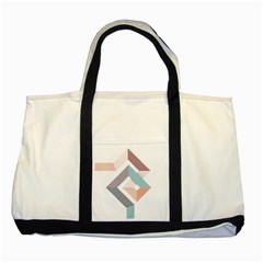 1  Rhombus Geometry  Abstract Two Tone Tote Bag