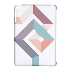 1  Rhombus Geometry  Abstract Apple Ipad Mini Hardshell Case (compatible With Smart Cover)