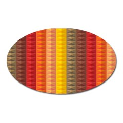 Abstract Pattern Background Plaid Oval Magnet by Jojostore