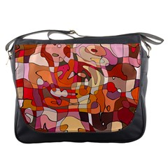 Abstract Line Messenger Bag by Jojostore