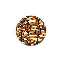 Autumn Leaf Mosaic Golf Ball Marker (10 Pack)