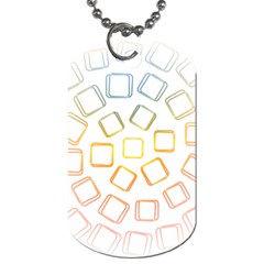 Abstract Geometric Squares Radial Dog Tag (two Sides)