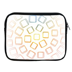 Abstract Geometric Squares Radial Apple Ipad 2/3/4 Zipper Cases by Jojostore