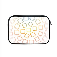 Abstract Geometric Squares Radial Apple Macbook Pro 15  Zipper Case