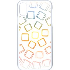 Abstract Geometric Squares Radial Apple Iphone Xs Seamless Case (white)