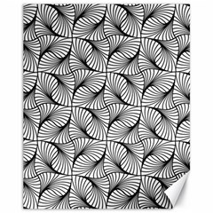 Abstract Seamless Pattern Spiral Canvas 11  X 14