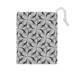 Abstract Seamless Pattern Spiral Drawstring Pouch (large)