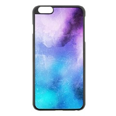 Background Abstract Watercolor Apple Iphone 6 Plus/6s Plus Black Enamel Case