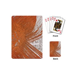 Abstract Lines Background Playing Cards (mini)