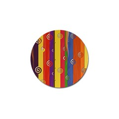 Abstract  Rainbow Golf Ball Marker