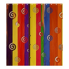 Abstract  Rainbow Shower Curtain 66  X 72  (large)