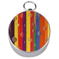 Abstract  Rainbow Silver Compasses