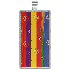 Abstract  Rainbow Rectangle Necklace by Jojostore