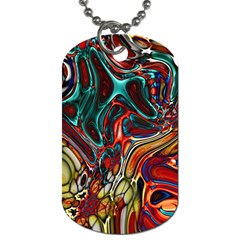 Abstract Art Stained Glass Dog Tag (two Sides)