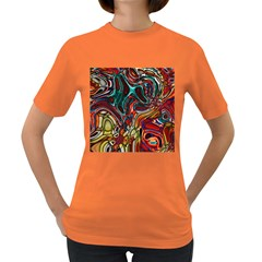 Abstract Art Stained Glass Women s Dark T Shirt